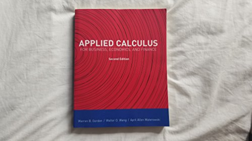 9781323125656: Applied Calculus (For Business, Economics, and Finance
