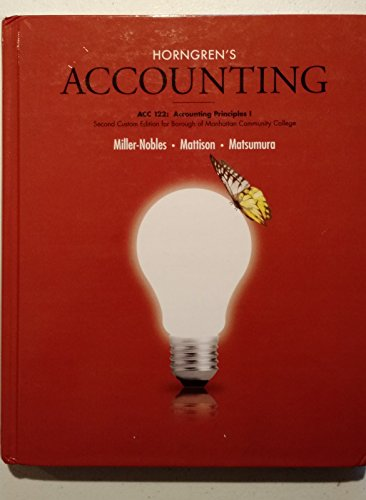 9781323134900: Horngren's Accounting-ACC 122:Accounting Principles l