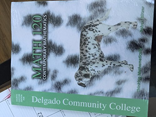 9781323138236: DELGADO COMMUNITY COLLEGE MATH 120 CONTEMPORARY MATHEMATICS