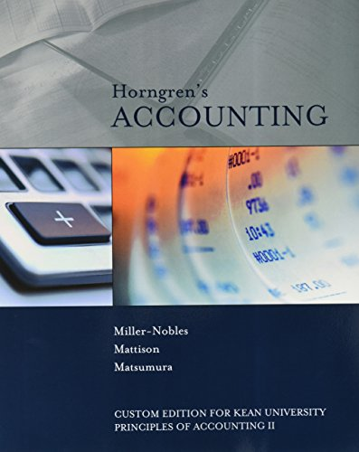 9781323151310: Horngren's Accounting Custom Edition for Kean University Principles of Accounting II