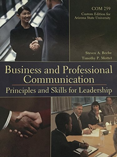 9781323151471: Business and Professional Communication: Principles and Skills for Leadership