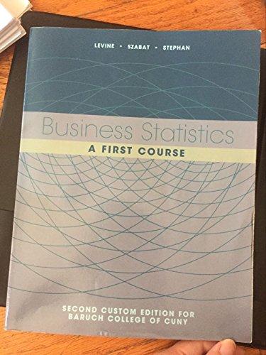 9781323159286: Business Statistics - A First Course