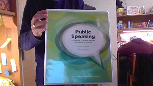 9781323162408: Public Speaking An Audience-Centered Approach With additional materials Second Custom Edition for Missouri State University