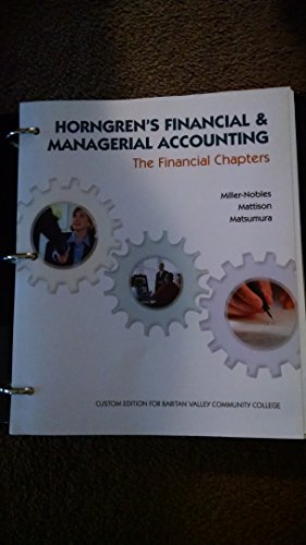 9781323167267: Horngren's Financial & Managerial Accounting - The Financial Chapters