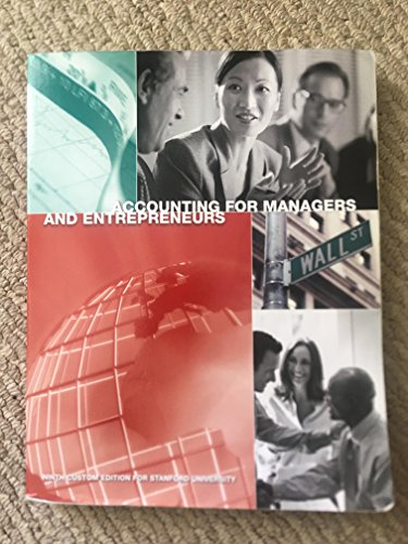 9781323167892: Accounting for Managers and Entrepreneurs ninth Edition