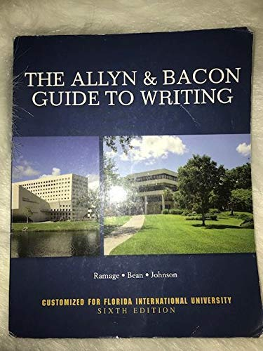 9781323510964: The Allyn & Bacon Guide to Writing