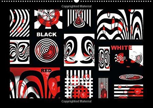 9781325058778: Black, White, Red /UK-Version: Design in Black, White, Red (Calvendo Art)
