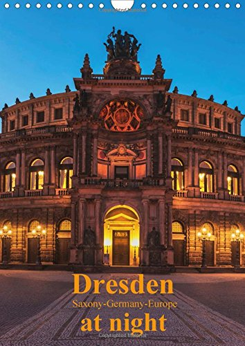 9781325063215: Dresden at night / UK-Version 2016: Dresden at night, beautiful German city on the Elbe river (Calvendo Places)