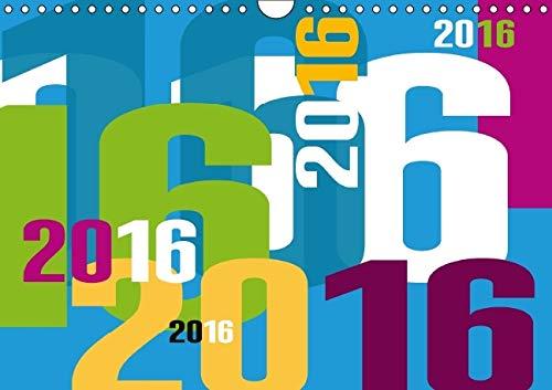 9781325116010: Calendrier Typographique / 2016: Colore, Joyeux et Courageux ! (Calvendo Art) (French Edition)