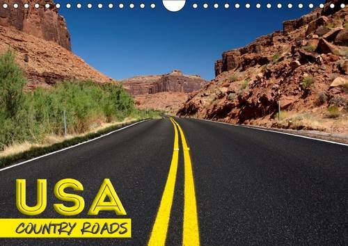 9781325135875: USA Country Roads 2017: Lonely Trips in the United Staates (Calvendo Places)