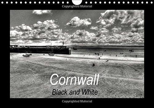 9781325175338: Cornwall - Black and White (Wall Calendar 2017 DIN A4 Landscape): Cornwall - England's beautiful coastline in the southwest (Monthly calendar, 14 pages ) (Calvendo Nature)