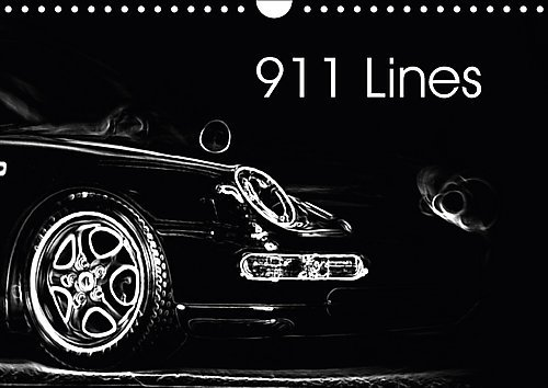 9781325179275: 911 Lines (Wall Calendar 2017 DIN A4 Landscape): A German Sportscar in lines (Monthly calendar, 14 pages ) (Calvendo Art)