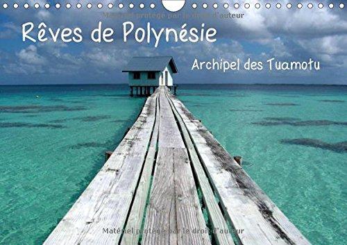9781325219001: Rêves de polynésie archipel des Tuamotu : Atolls de Ahe et atoll de Tikehau ; perdez-vous dans la magie du bleu... Calendrier mural A4 horizontal