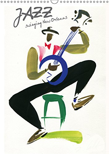 9781325250455 - N. N.: JAZZ swinging New Orleans 2018: Musiciens de la Nouvelle Orleans captes d un trait de pinceau leger et colore - Livre