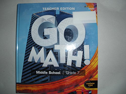 GO Math ! middle school grade 7 teacher