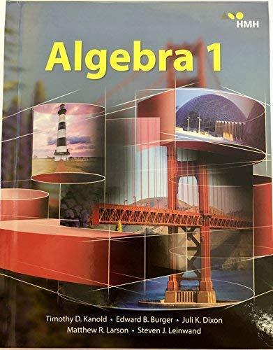 9781328900029: HMH Algebra 1: Student Edition (Hardcover) 2018