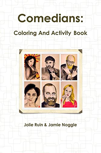 Comedians: Coloring and Activity Book (Paperback): Jolie Ruin