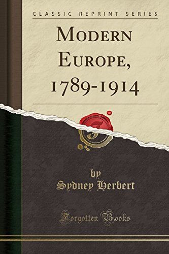 9781330250846: Modern Europe, 1789-1914 (Classic Reprint)
