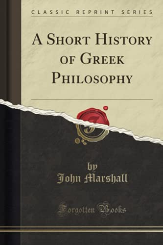 9781330291863: A Short History of Greek Philosophy (Classic Reprint)