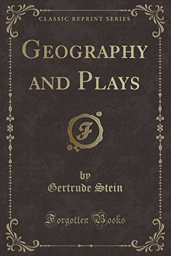 9781330429990: Geography and Plays (Classic Reprint)