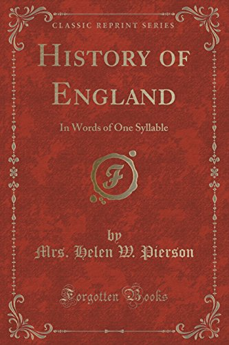 History of England: In Words of One: Mrs Helen W
