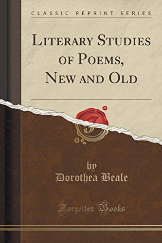 9781331131373: Literary Studies of Poems, New and Old (Classic Reprint)