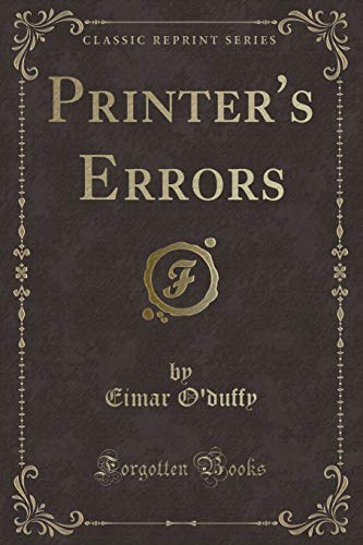 Image result for Eimar O'Duffy, Printer's Errors,