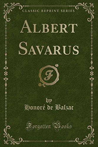 9781331480273: Albert Savarus (Classic Reprint)