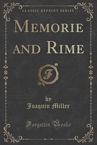 9781331624653: Memorie and Rime (Classic Reprint)