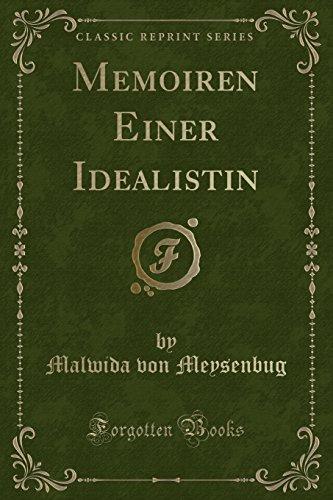 9781332356461: Memoiren Einer Idealistin (Classic Reprint)
