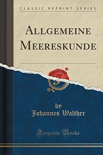 9781332359189: Allgemeine Meereskunde (Classic Reprint)