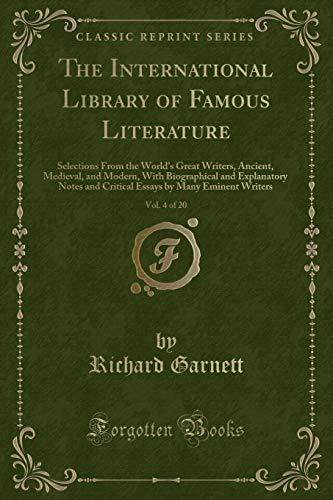 The International Library of Famous Literature, Vol.: Richard Garnett Dr