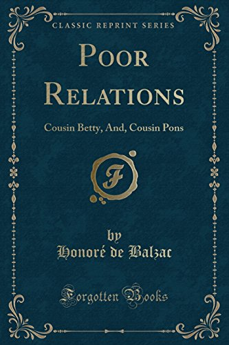 Cousin Pons: Part Two of Poor Relations (Classics)