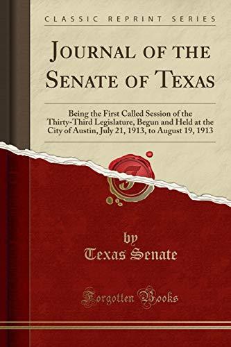 Journal of the Senate of Texas: Being: Texas Senate
