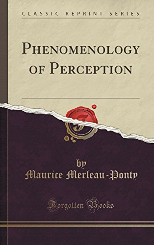 9781334996702: Phenomenology of Perception (Classic Reprint)