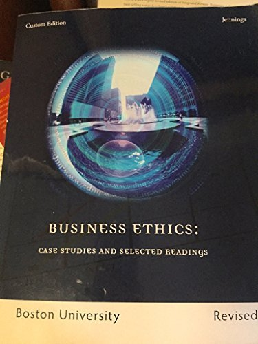 9781337051576: Business Ethics: Case Studies and Selected Readings. Boston University