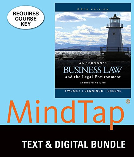 9781337061094: Bundle: Anderson's Business Law and the Legal Environment, Standard Volume, Loose-Leaf Version, 23rd + MindTap Business Law, 1 term (6 months) Printed Access Card
