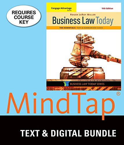 9781337061858: Bundle: Cengage Advantage Books: Business Law Today, The Essentials: Text and Summarized Cases, Loose-Leaf Version, 11th + MindTap Business Law, 1 term (6 months) Printed Access Card