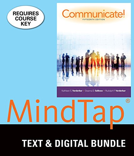 Bundle: Communicate! Loose-leaf version, 15th + LMS: Verderber, Rudolph F.;