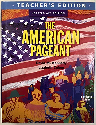 9781337090162: The American Pageant, AP Edition, Teacher's Edition