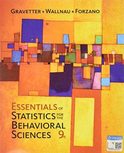 9781337098120: Essentials of Statistics for The Behavioral Sciences