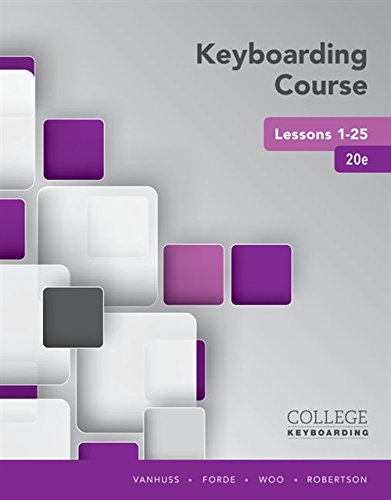 9781337103251: Keyboarding Course Lessons 1-25