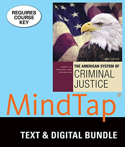 9781337125895: Bundle: The American System of Criminal Justice, 15th + LMS Integrated MindTap Criminal Justice, 1 term (6 months) Printed Access Card