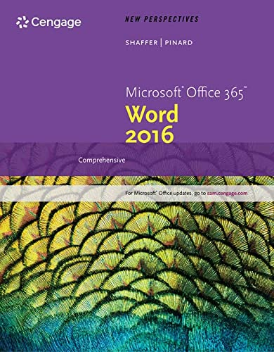 New Perspectives Microsoft Office 365 & Word 2016: Comprehensive, Loose-leaf Version: Ann ...