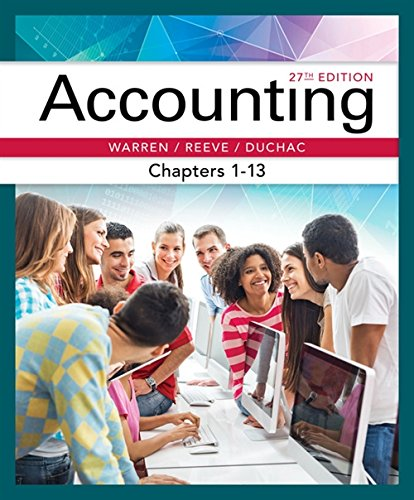 9781337272100: Accounting, Chapters 1-13