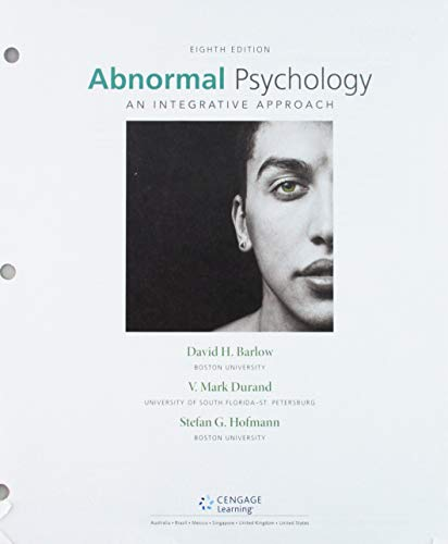 abnormal psychology an integrative approach 7th edition