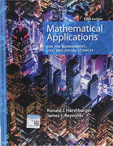 9781337625340: Mathematical Applications for the Management, Life, and Social Sciences