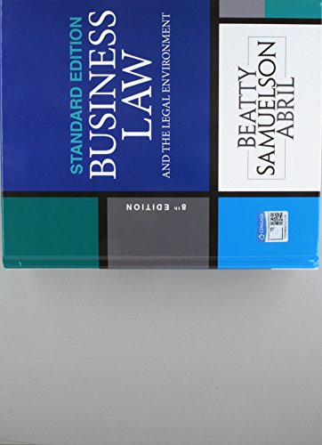 Online Courseware MindTap Business Law for Beatty//Samuelson//Abrils Business Law and the Legal Environment 6 months 8th Edition Cengage Learning