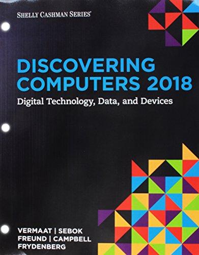Bundle Discovering Computers 2018 Digital Technology Data Vermaat Misty E