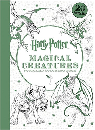 9781338054590: Harry Potter Magical Creatures Postcard Coloring Book